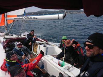 Sturmsegeln beim Skippertraining